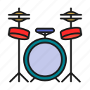 drum, hit the drum, music, musical instruments icon
