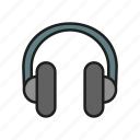 headphones, listen music, music, song icon