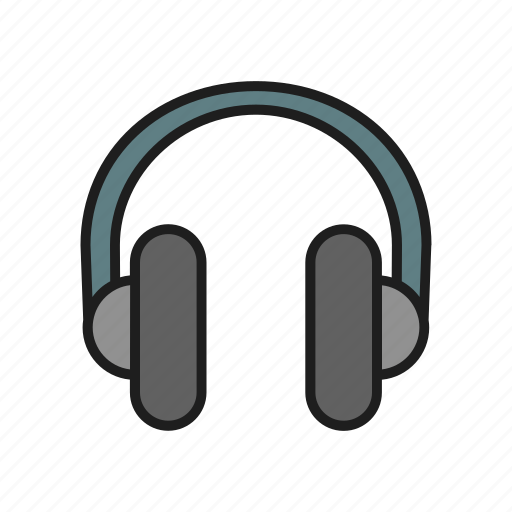 headphones, listen music, music, song icon