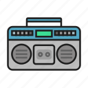 music, recorder, song, tape recorder icon