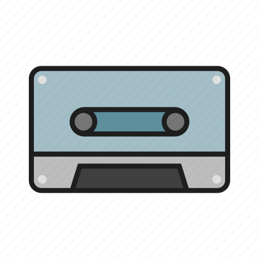 cassette, player, retro, song icon