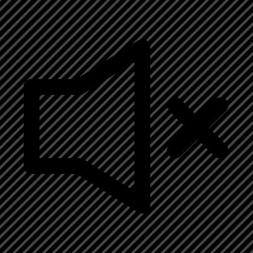 audio, mute, speaker, volume icon