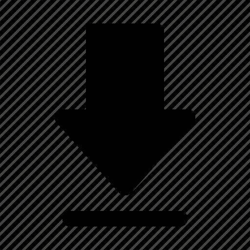 arrow, download, import icon