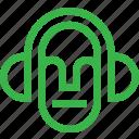 audio, emoticon, face, player, smiley, sound icon