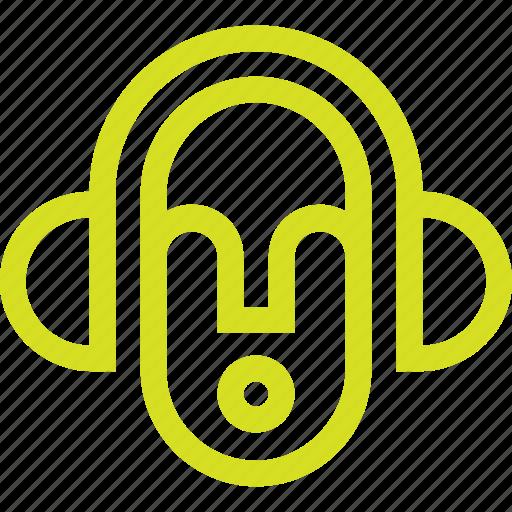 audio, emoticon, face, smiley, social, sound icon