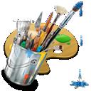 graphics, painting icon