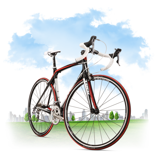 bicycle, travel icon
