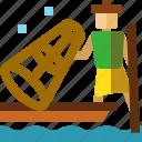 fisher, inle, lake, myanmar, people icon