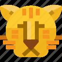 animal, myanmar, tiger, wild, zoo icon