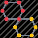 molecules, nano, nanotechnology, tech icon