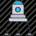 nano, nanotechnology, robot, tech icon