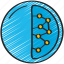 molecules, nanotech, nanotechnology, sphere icon