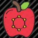 apple, food, in, nanotech, nanotechnology icon