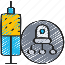 in, injections, nanotech, nanotechnology, robot icon