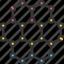 molecules, nano, nanotechnology, structure icon