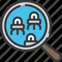 magnify, nano, nanotechnology, search, technology icon
