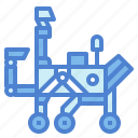 exploration, mars, rover, space, trolley icon