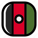 national, world, flag, country, nation, square, afghanistan icon