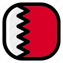 bahrain, national, world, flag, country, nation, square icon