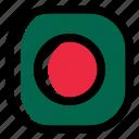 bangladesh, national, world, flag, country, nation, square icon