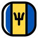 barbados, national, world, flag, country, nation, square icon