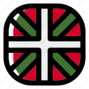basque country, national, world, flag, country, nation, square icon