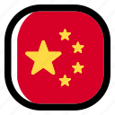 china, national, world, flag, country, nation, square icon