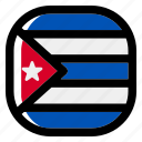cuba, national, world, flag, country, nation, square icon