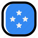 micronesia, national, world, flag, country, nation, square icon