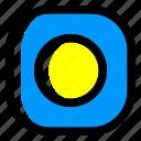 palau, national, world, flag, country, nation, square icon