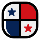 panama, national, world, flag, country, nation, square icon