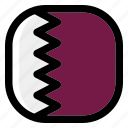 qatar, national, world, flag, country, nation, square icon