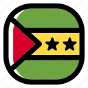 sao tome and principe, national, world, flag, country, nation, square icon
