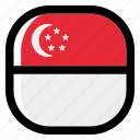 singapore, national, world, flag, country, nation, square icon