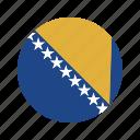 bosnia, country, flag, herzegovina icon