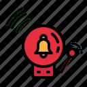 alarm, danger, emergency, fire, warning icon
