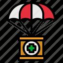 donation, healthcare, help, parachute, solidarity