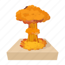 bomb, cartoon, cloud, explosion, fire, nuclear, nuke icon