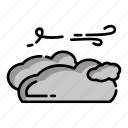 climate, cloud, cloudy, forecast, nature, weather, wind icon