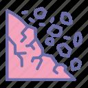 landslide, erotion, avalanche, disaster1 icon