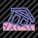 landslide, erotion, avalanche, disaster4 icon
