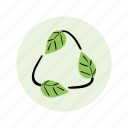 biodegradable, ecology, green, recycle icon