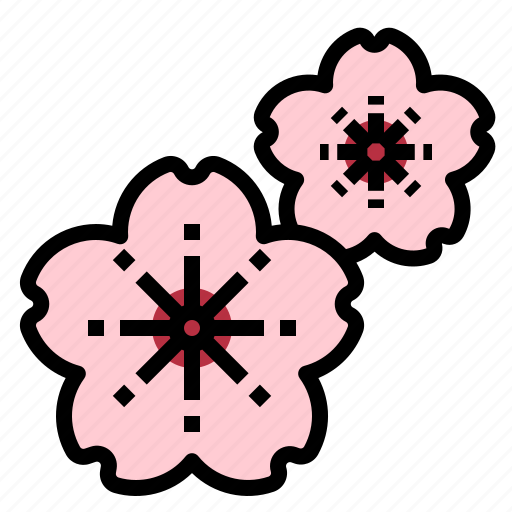 aroma, flower, fragrant, perfume, sakura, scent, therapy icon