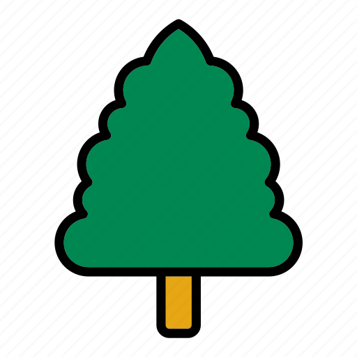 cypress, flora, forest, nature, tree icon