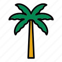 flora, forest, nature, palm, palm tree, tree icon