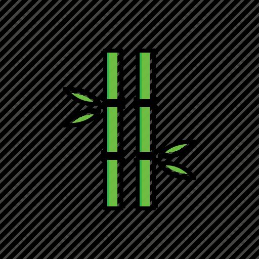 bamboo, garden, nature icon