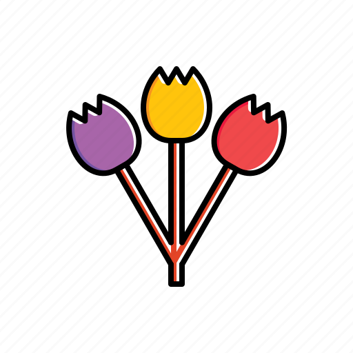 bouquet, flower, nature icon