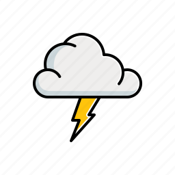 cloudy, lightning, nature icon