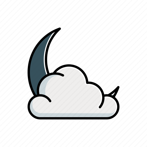 Cloudy, moon, nature icon - Download on Iconfinder