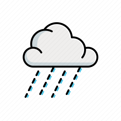 cloudy, nature, rain icon